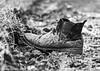 Rubbish !! (MWBee) Tags: moorecameraclub blackandwhite monochrome bw boot mud muddyboot rubbish mwbee nikon d750 walton warrington cheshire