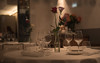 dinner (=Mirjam=) Tags: nikond750 restaurant table setting dinner glasses flowers amsterdam nightlife februari 2018