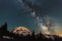 Ancient Ice & Light (Images by Beaulin) Tags: spraypark mountainscape starscape mountrainiernationalpark landscape milkyway nightsky starrysky stars mountains washingtonstate places nightscape mountrainier piercecounty mowichlakearea washington unitedstates usa