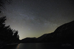 Clear Alpine Night (wilbias) Tags: lake standing water milky way cameron vancouver island british columbia canada night sky bc ultra wide beaufort