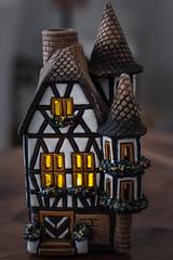 Handsel and Gretel, Brothers Grimm, 1812 (Jump83) Tags: macromondays myfavouritenovelfiction maison house ceramic light