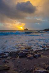 Great Mewstone (JKmedia) Tags: wembury boultonphotography 2018 jan1st sunset island coast sea beach reflection light blue shadow mew stone greatmewstone devon south plymouth uk clouds sunlight afternoon wave break