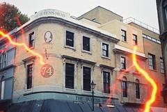 The Queen's Head (Tesla) (goodfella2459) Tags: nikon f4 af nikkor 50mm f14d lens revolog tesla 2 200 35mm c41 film analog colour queens head pub lightning whitechapel east end spitalfields london building history jack ripper