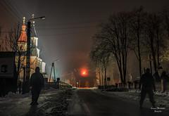 Moon in the village (grzegorz.maciejewski) Tags: grodzisk podlasie noc