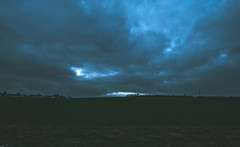 Homeward bound (dusk_rider) Tags: hedge hedgerow hitchin hertfordshire nikon d7200 1224mm f4 wide angle ultra landscape silhouette countryside england english clouds blue dark nikkor