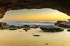Sunrise Seascape from Cave (Merrillie) Tags: daybreak sunrise nature dawn cave water centralcoast morning newsouthwales rocks earlymorning nsw sea rocky ocean cavesbeach landscape waterscape coastal swansea sky seascape australia coast outdoors waves