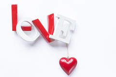 40/365: Love is in the air (judi may) Tags: 365the2018edition 3652018 day40365 09feb18 love red white heart highkey loveisintheair stilllife letters canon7d 50mm flatlay tabletopphotography redheart metal metalheart