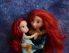 Ariel and Merida: like sisters )) (Alice_Milich) Tags: disney animators mini merida ariel