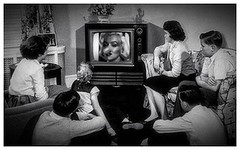 The camera adds ten pounds. (Fotofricassee) Tags: nose 1950s marilyn monroe tv