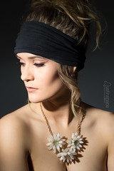 Mikayla (austinspace) Tags: woman portrait spokane washington model necklace shoulders hairband implied