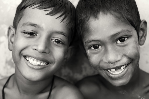 Bangladesh, happy boys in Barisal
