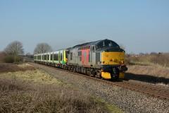 37601. Lower Moor. 24-02-2018 (*Steve King*) Tags: lowermoor 37601 5q94 europhoenix class 37 350 unit drag long marston