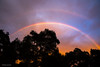 Double Rainbow At Sunset (Mimi Ditchie) Tags: rainbow sunset trees treeline oaktrees doublerainbow clouds getty gettyimages mimiditchie mimiditchiephotography droh dailyrayofhope