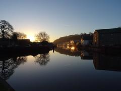 Gloriously golden (Phil Gayton) Tags: sky water sunrise light gold reflection vire island baltic wharf river dart totnes devon uk silhouette sonyflickraward