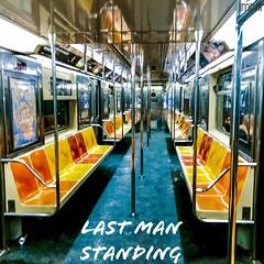 Last Man Standing New York City Subway - IMRAN™ (ImranAnwar) Tags: symmetry geometry travel travelogue wallstreet underground mta chairs train subway newyorkcity manhattan imran imrananwar iphone