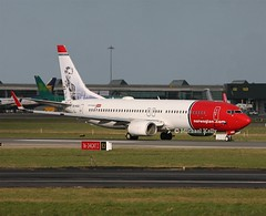 Norwegian                              Boeing 737                                    LN-NGG (Flame1958) Tags: norwegian norwegianb737 boeing737 boeing b737 737 nortrans dub eidw dublinairport lnngg 010218 0218 2018 9567