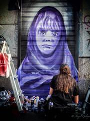 P4230138-Editar-Editar-Editar-Editar-Editar-1 (agalayo) Tags: cierre lienzometalico spray color retrato callejero artista pintura calle arte graffiti