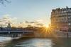 Sunset on Pont Saint-Louis (slam.photo) Tags: paris sonyalpha cityscape a7ii seine river city sony flood sunset bridge pont fleuve sun soleil hdr 75004