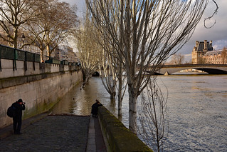 Paris / Flood of the Seine /  The photograph