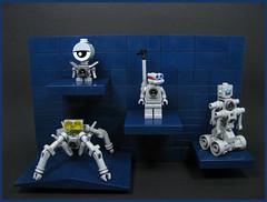 Doogal the Droid & his Mechanical Mates (Karf Oohlu) Tags: lego moc droid minifig bot mechanicals littlebots robot scifi