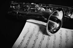 The passion (cosimocarbone) Tags: note spartito art arte white black nero bianco bw passion music passione musica