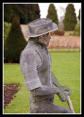 Wire Gardener (veggiesosage) Tags: nottinghamshire newsteadabbey statelyhome aficionados gx20 sculptures