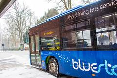 Mercedes Citaro operating on Bluestar services in Southampton during a snow storm (mangopearuk) Tags: bus uk ukbus buses snow southampton storm stormemma hampshire solent citycentre bluestar solentblueline goahead gosouthcoast adl alexanderdennis enviro