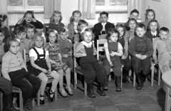 Story time (theirhistory) Tags: girls children school class form kids boys dungarees trousers sandals shoes wellies jumper jacket boots