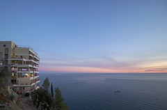 2018 winter on the Riviera [XIV] (Olivier So) Tags: france frenchriviera riviera roquebrune roquebrunecapmartin vistapalace sunset sky clouds
