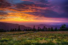 Roan Mountain Sunset (josht712) Tags: 5d photography color summer roundbald appalachian trail light clouds canon nature landscape stunning view top camp hiking hike mountain roan sky sunset