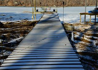 Snowy Dock, Iced River