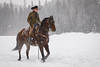 Cowboy Rdiding in the Snow (blackhawk32) Tags: barw kalispell montana cowboy horse snow winter