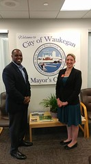 Meeting Sam Cunningham Waukegan Mayor