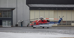 Snow and wet weather (G E Nilsen) Tags: airecraft airport brønnøy brønnøysund snow winter helicopter offshore norway nordnorge northernnorway northennorway
