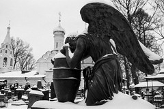 Winter. The necropolis of the Donskoy Monastery. (nonnull) Tags: moscow russia winter donskoymonastery mood blackandwhite noiretblanc filmphotography filmphoto silberrapan160 silberra canoneos5 canon d76 barhatovcom citywalks necropolis gravestone graveyard tomb dark monochrome monotone filmisnotdead filmtype135 film grayscale gray ru bnwmood bnwfilm bnw bwfp bw artinbw panchromaticfilm snow sredafilmlab pakonf235 canonef2810513545usm canonef28105 noir msk orthodox orthodoxy донскоймонастырь зима фотопленка пленка чб россия москва чбфото некрополь чернобелое скульптура sculpture art angel tombstones cemetery 2018