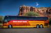 Gold Coast Tours (donnieking1811) Tags: arizona sedona goldcoasttours tourbus bus outdoors mountain rocks trees sky blue red yellow orange hdr canon 60d lightroom photomatixpro