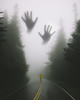 Nightmare (Lightcrafter Artistry) Tags: photoshop art hands for mist trees