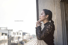 DSC05136 (alexyu2013) Tags: 台灣 台中 外拍 女生 人像 女人 廢墟 古典 歐美 taiwan taicung portrait face girl woman beauty glamorous wild dress