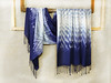Large scarf hand-dyed in shibori technique (arireven) Tags: scarf shibori fashion bluewhite shawl whisperofsilk wrap women