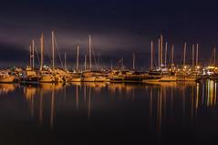 Notturno con barche porto di Casamicciola (Nunzio Pascale) Tags: notturno barche yachts casamicciola notte night nite blue noche