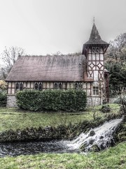 Rickford (mclean25) Tags: rickford mendip hills somerset uk church mill pond leat cascade england building architecture religion religious worship faith