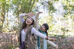 Happy Japanese sisters playing in green forest (Apricot Cafe) Tags: img29158 asia asianandindianethnicities japan japaneseethnicity kyotocity kyotoprefecture sigma35mmf14dghsmart candid casualclothing charming cheerful dancing day enjoyment family foolish forest freedom happiness lifestyles midadult morning nature outdoors photography playing relaxation sister smiling springtime sustainablelifestyle toothysmile tourism tourist traveldestinations twopeople weekendactivities women youngadult kyōtoshi kyōtofu jp