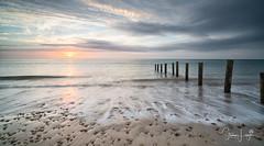 2017 - 12-28 - Landscape - Moana - Sunset 03.jpg (stevenlazar) Tags: pylons beach ocean sunset australia colour water moana waves jettyruins adelaide 2017 southaustralia clouds
