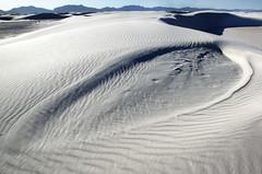 Whitesands Leaf (2Colnagos) Tags: white wind patterns leaf whitesands alamogordo newmexico sand