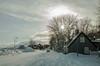 Old town (joningic) Tags: winter white snow akureyri iceland innbærinn innbær sun urbannature urban february house houses smiðjan gamlasmiðjan