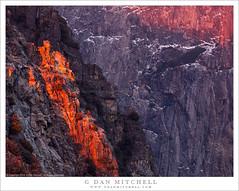 Granite Cliffs, Last Light (G Dan Mitchell) Tags: line last sunset light cross rugged granite cliffs yosemite national park valley snow winter nature landscape sierra nevada mountains california usa north america
