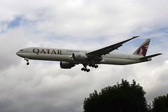 A7-BED (FabioZ2) Tags: londra boeing qatar 7773dzer atterraggio