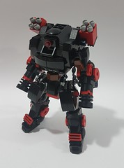 Heavy Artillery Mech equipped with Gatling Gun and a couple of Missile Launcher ready to seek and destroy (napoleondynamite57) Tags: