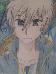 Zen Wistaria (jasakhan10) Tags: snowwhitewiththeredhair zen wistaria anime boy drawing prismacolors fanart