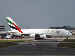 A6-EDB Airbus A380 Emirates (Aircaft @ Gloucestershire Airport By James) Tags: manchester airport a6edb airbus a380 emirates egcc james lloyds
